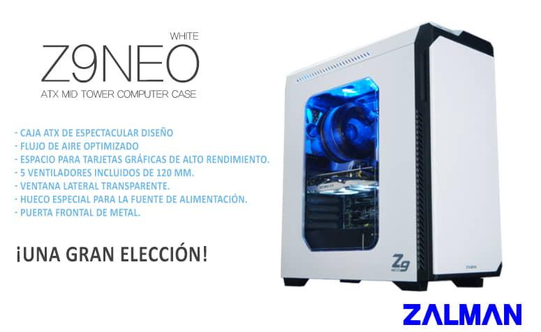 Descubre la caja Zalman Z9 NEO White
