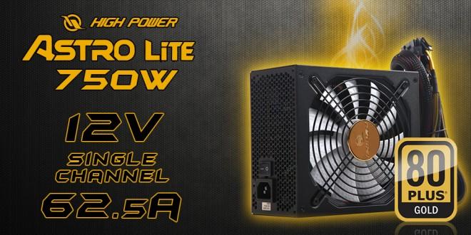 High Power Astro Lite 750W 80Plus Gold modular