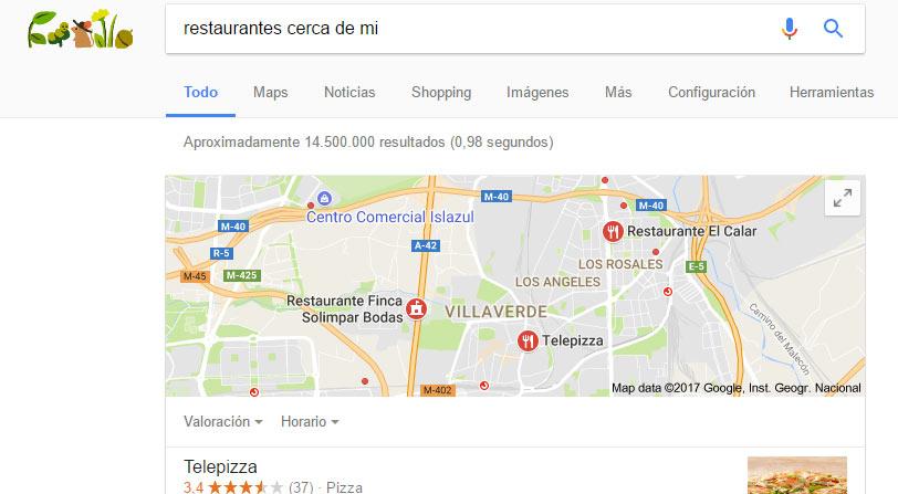 Buscar cerca de mí Google comandos de busqueda avanzada