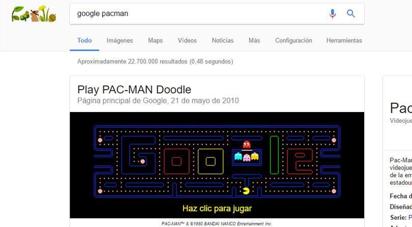 juegos google pacman