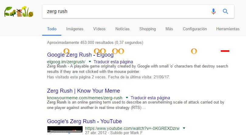 zerg rush juegos google